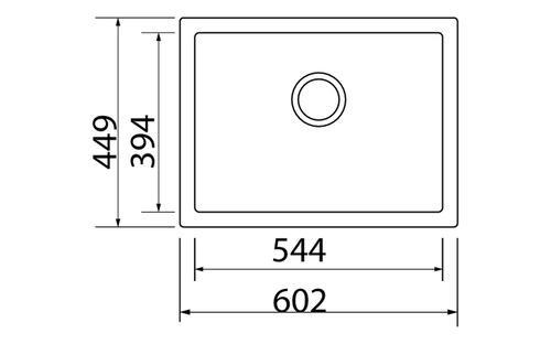 Мойка гранитная одинарная, модель BIG B, SHONY