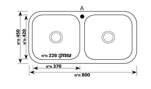 Двойная кухонная мойка из нержавеющей стали модель Dolomite GS8045F разная SHONY