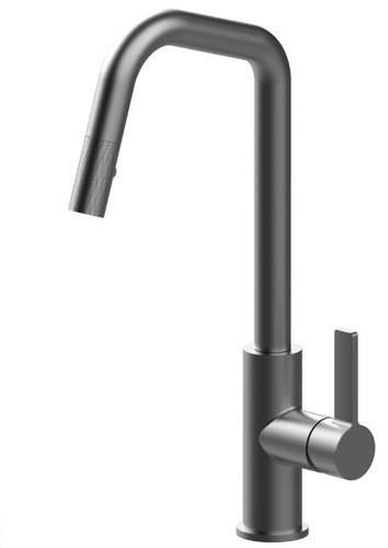 Смеситель для кухни съемный модель Nina black charcoal 59153 Shoni SHONY