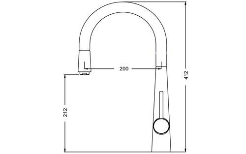 Angelina Chrome Смеситель для кухни 55203-EDC Shoni SHONY