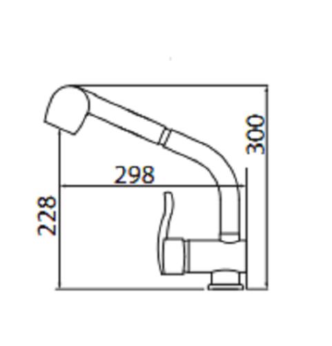 Смеситель для кухни Project два режима Chrome P47 разные SHONY