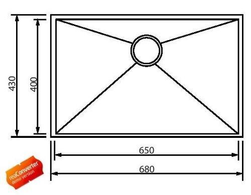 Кухонная мойка одинарная из нержавеющей стали, модель SQ05F, разные SHONY