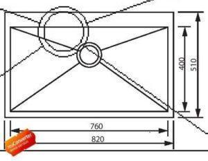 Кухонная мойка из нержавеющей стали одинарная модель GDF-8251F Shoni SHONY
