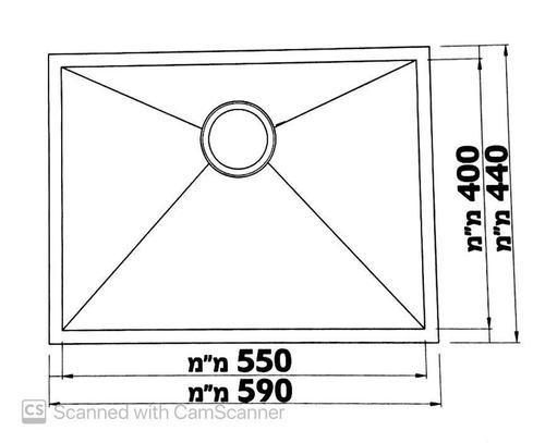 Мойка одинарная из нержавеющей стали модель saffron GDF-5944F разная SHONY