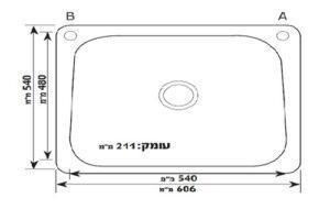 Модель мойки из нержавеющей стали круглая Mamia с градуированной панелью GD-6154T Shoni SHONY