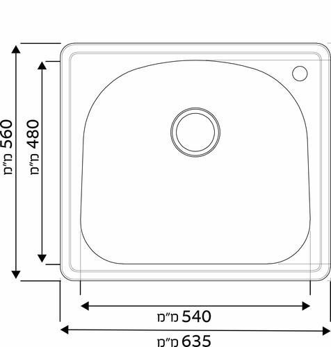 Модель кухонной мойки из нержавеющей стали Mamia XL одинарная GD6356T разная SHONY