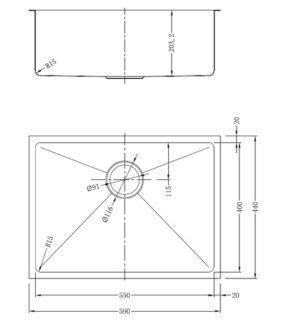 Кухонная мойка одинарная из нержавеющей стали модель vanilla GDF-5944RF разная SHONY