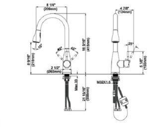 Съемный смеситель для кухни Johnson с двумя режимами потока 40050 различных SHONY