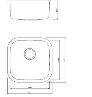 Модель мойки одинарная из нержавеющей стали Toro GD4343F Shoni SHONY