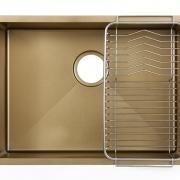 Золотая мойка из нержавейки ванильная модель GDF-5944G разная SHONY