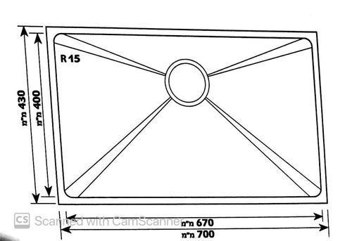 Модель мойки одинарная из нержавеющей стали Cinnamon GD-7043R15F, разные SHONY