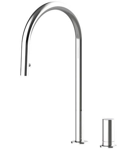 Съемная ручка смесителя для кухни с поверхности, модель Vera Chrome 53961, разные SHONY