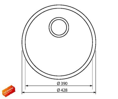 Модель кухонной мойки круглой формы из нержавеющей стали Amber FM1011-1F Shoni SHONY