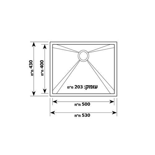 Модель мойки одинарная из нержавеющей стали Kimco GD5343F Shoni SHONY