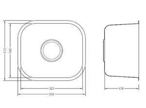 Мойка одинарная из нержавеющей стали, модель May GD3531F Shoni SHONY