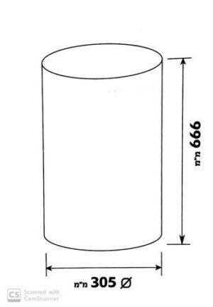 Урна кухонная 30 литров круглая нержавеющая сталь - 96586 Shoni SHONY