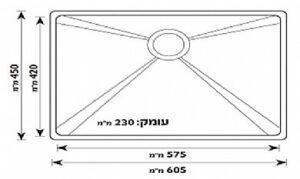 Одинарная кухонная мойка из нержавеющей стали модели Merkel GD-6045F, разные SHONY
