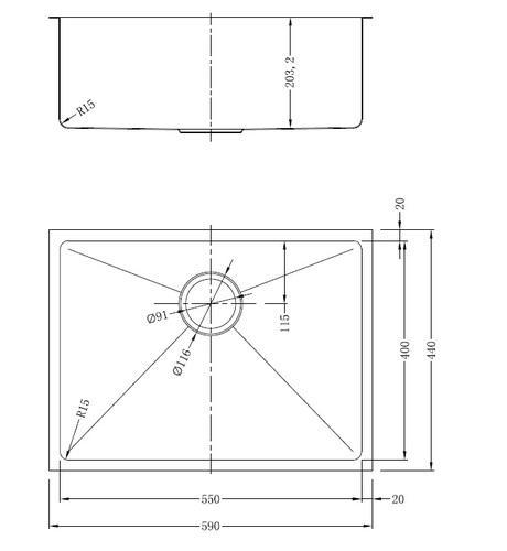 Мойка нержавеющая серебристая ванильная модель GDF-5944S разная SHONY