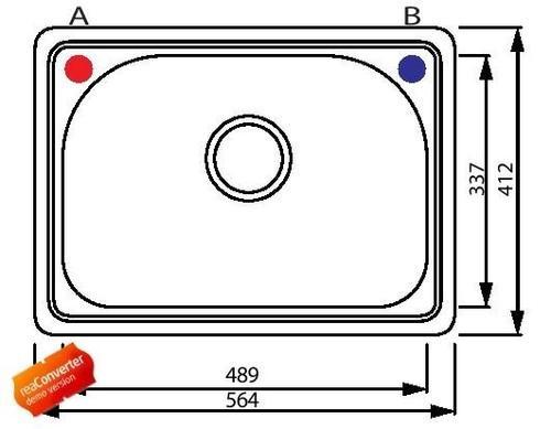 Одинарная кухонная мойка из нержавеющей стали, модель FM1003F Shoni SHONY
