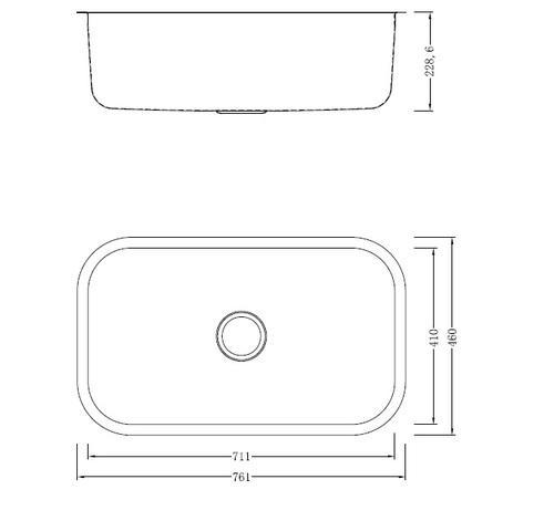 Модель мойки одинарная из нержавеющей стали Cano GD7646F Shoni SHONY