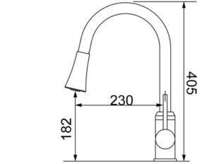 Andromeda Chrome Смеситель для кухни 58-5C Shoni SHONY