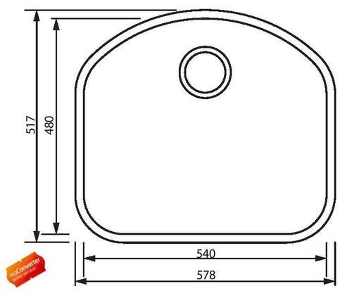 Одиночная закругленная кухонная мойка из нержавеющей стали, модель Petra FM1018F Shoni SHONY