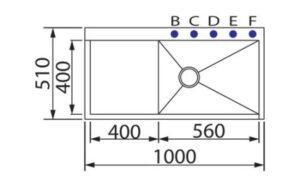 Одиночная кухонная мойка из нержавеющей стали с изумрудной поверхностью GDF-10051DF различная SHONY