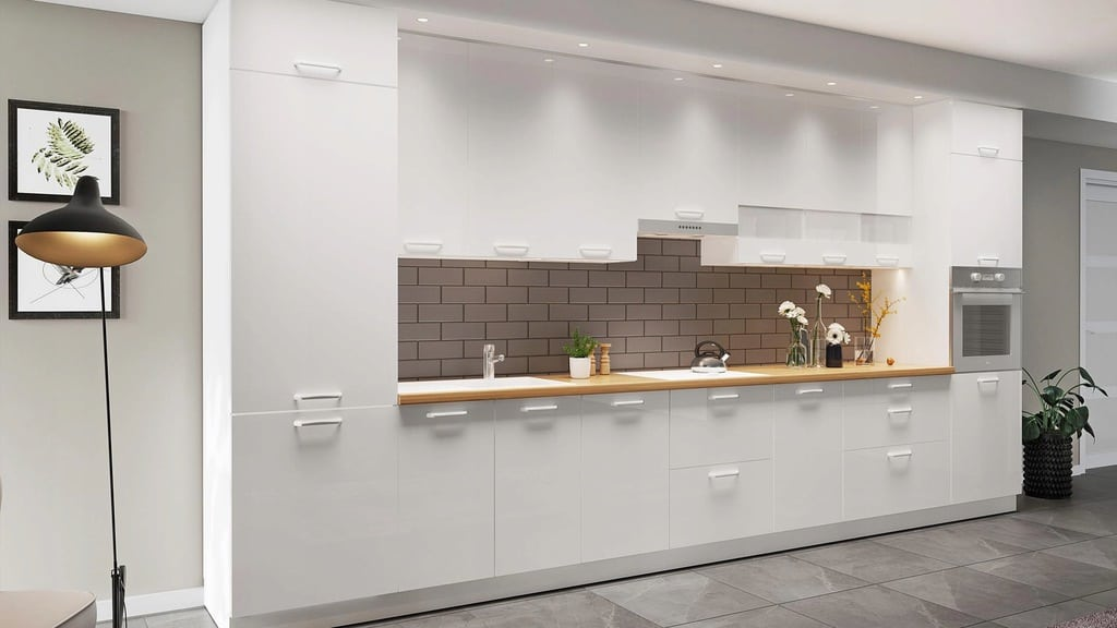 Нижний кухонный шкаф с 3 ящиками 50 см KAMMONO P4