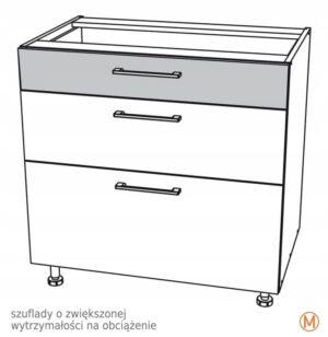 Нижний шкафчик 70 см с 3 ящиками Kamduo ML
