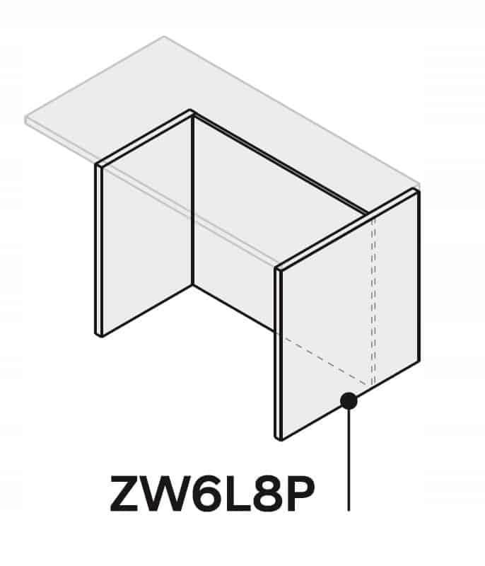 Кухонный остров 120см ZW6L8P120P2 столешница, форма 3,6
