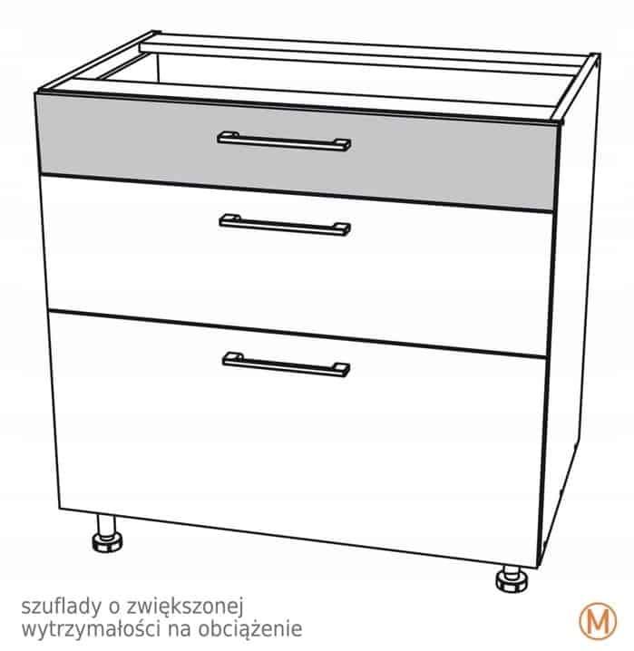 Нижний шкафчик 90 см с 3 ящиками Kamduo ML