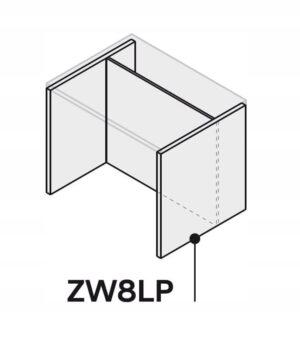 Кухонный остров 150 см ZW8LP150 P2 столешница, форма 3,6