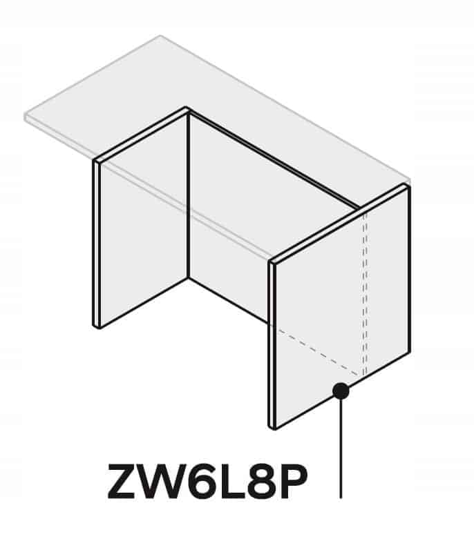 130 см кухонный островок ZW6L8P130 P2 со столешницей R3