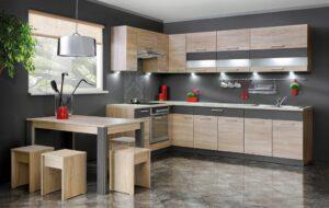 Кухонная мебель на размер без столешницы 210 см KD