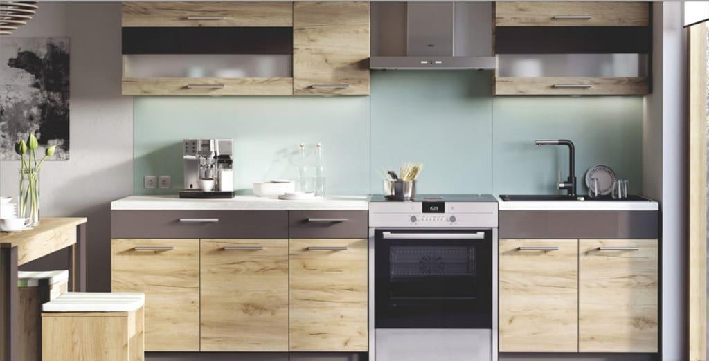 Кухонная мебель на размер без столешницы 260 см KD