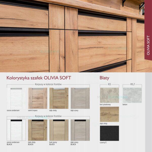 Шкафчик подвесной светильник Olivia Soft Black WS80 дуб золотой