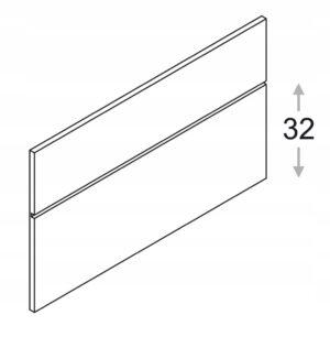 Панно с профилем Зобаль, h = 53,5 см КАММОНО