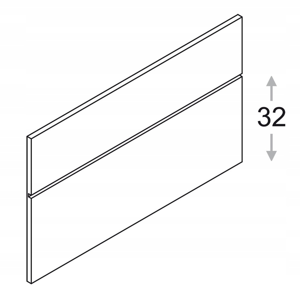 Панель с профилем , h = 53,5 см КАММОНО