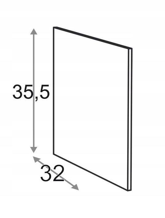 Сторона 35,5 см D = 32 см Kamduo ML
