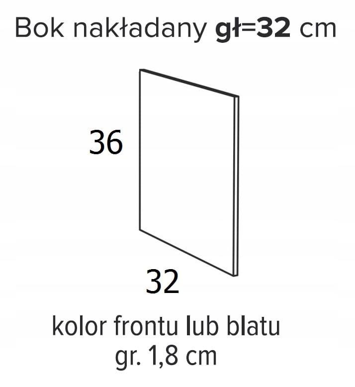 ВЫСОТА БОКОВОГО НАКЛАДКИ 36 x 32 см ОЛИВИЯ СОФТ