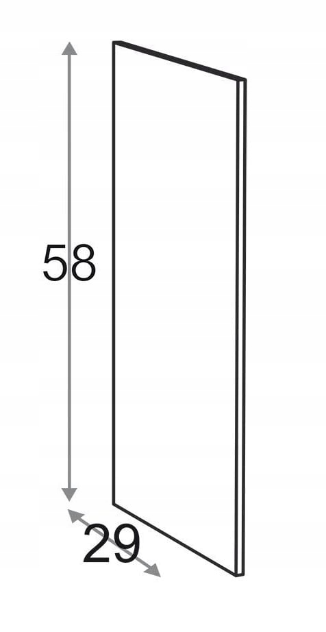 Сторона 29 см D = 58 см Kamduo ML