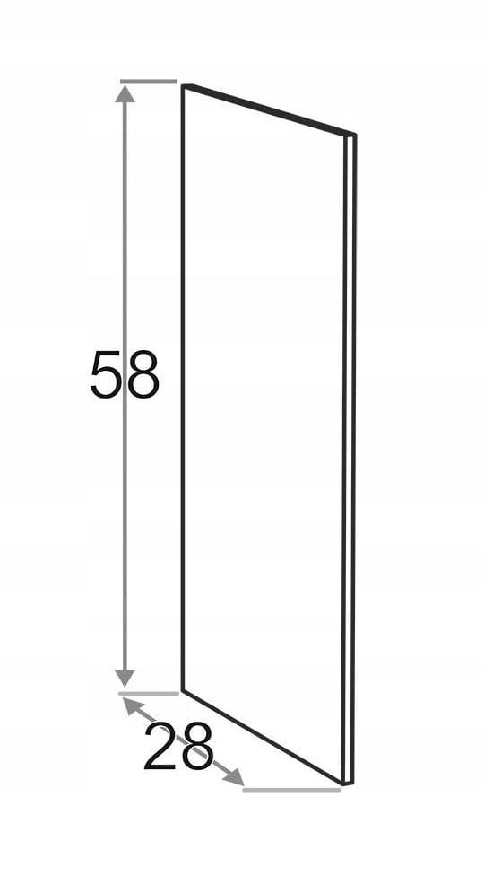 Накладная сторона 58 x 28 см KAMDUO XL