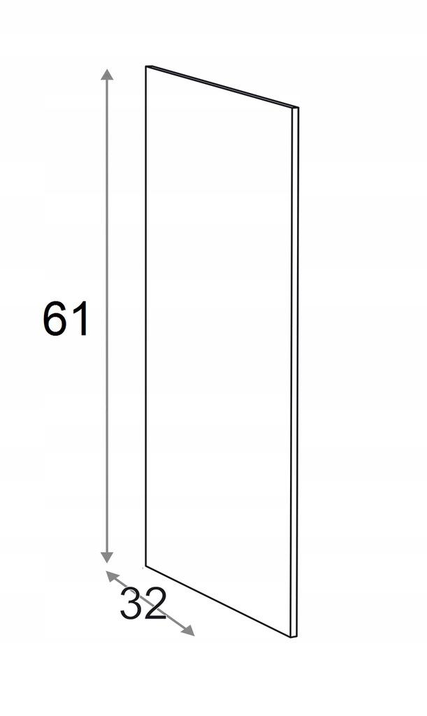 Накладка на подвесной шкаф КАММОНО 61 см