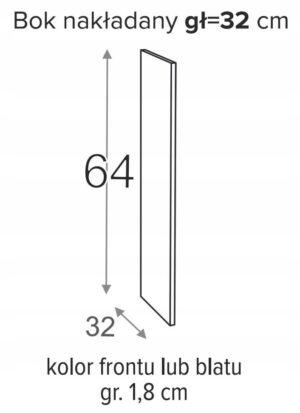 ВЫСОТА БОКОВОГО НАКЛАДКИ 64 x 32 см ОЛИВИЯ СОФТ