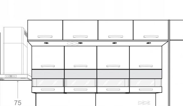 Панель освещения для шкафа KAMDUO XL 45 см