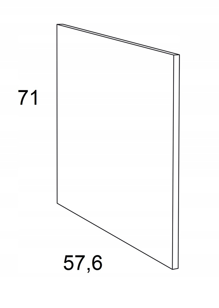 Накладка на нижний шкаф 71 см КАММОНО