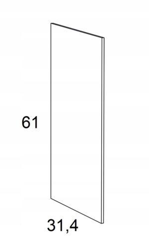 Накладка на подвесной шкаф KAMMONO F6 61 см
