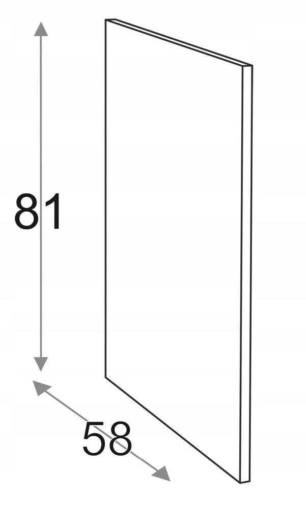 Сторона 81 см D = 58 см Kamduo ML