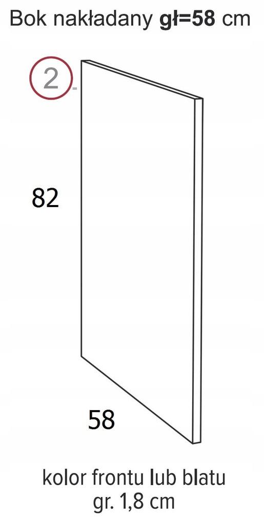 ВЫСОТА БОКОВОГО НАКЛАДКИ 82 x 58 см ОЛИВИЯ СОФТ