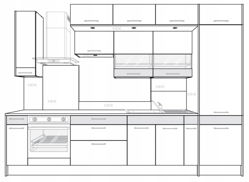 Панель освещения для шкафа Kamduo ML 70 см